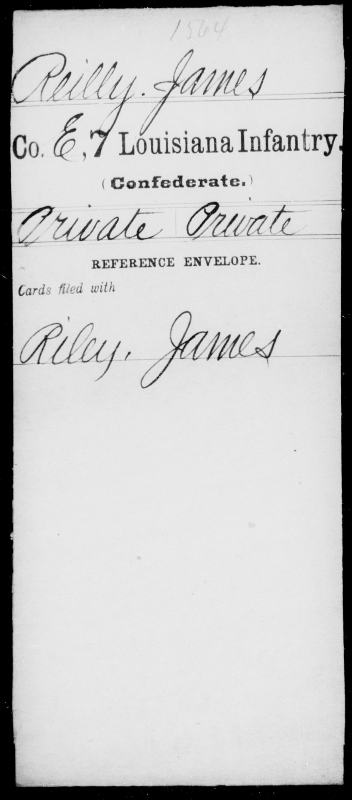 Reilly, James - Age [Blank], Year: [Blank] - Seventh Infantry, Mu - Re - Louisiana
