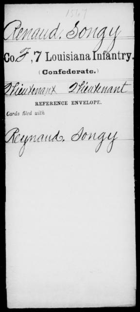 Renaud, Songy - Age [Blank], Year: [Blank] - Seventh Infantry, Mu - Re - Louisiana