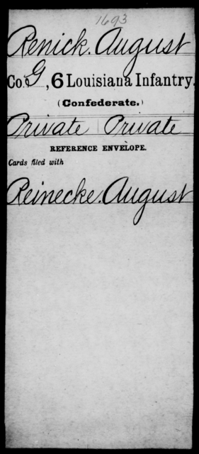 Renick, August - Age [Blank], Year: [Blank] - C, P - R - Louisiana