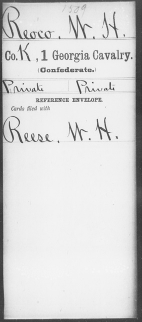 Reoco, W H - 1st Cavalry