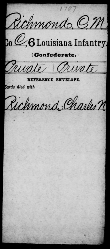 Richmond, C M - Age [Blank], Year: [Blank] - C, P - R - Louisiana