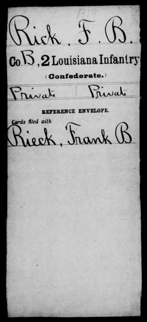 Rick, F B - Age [Blank], Year: [Blank] - M, Ri - Sn - Louisiana