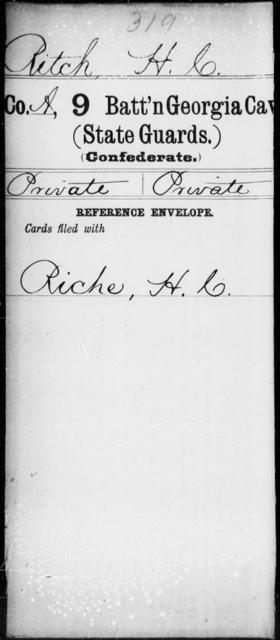 Ritch, H C - 8th Battalion, Cavalry (State Guards) AND 9th Battalion, Cavalry (State Guards)