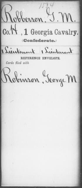 Robberson, G M - 1st Cavalry