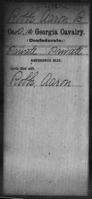 Robbs, Aaron B - 12th Cavalry