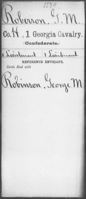 Roberson, G M - 1st Cavalry
