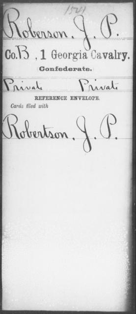 Roberson, J P - 1st Cavalry