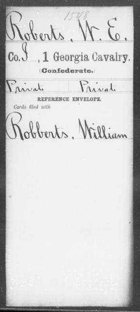 Roberts, W E - 1st Cavalry