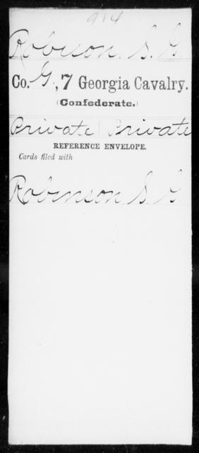 Robison, S G - 7th Cavalry