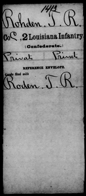 Rohden, T R - Age [Blank], Year: [Blank] - M, Ri - Sn - Louisiana