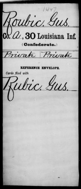Roubic, Gus - Age [Blank], Year: [Blank] - Thirtieth Infantry, N - Sa - Louisiana