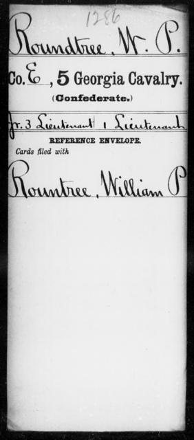 Roundtree, W P - 5th Cavalry