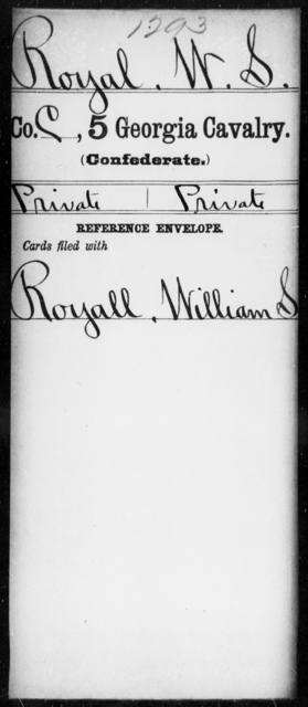 Royal, W S - 5th Cavalry