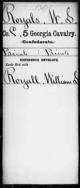 Royals, W S - 5th Cavalry