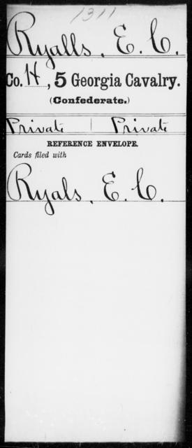 Ryalls, E C - 5th Cavalry