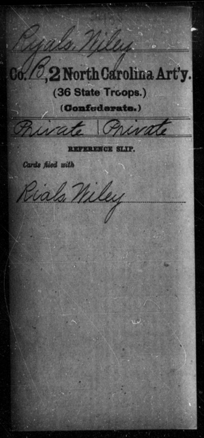 Ryals, Wiley - Second Artillery (36th State Troops)