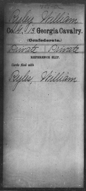 Ryley, William - 13th Cavalry