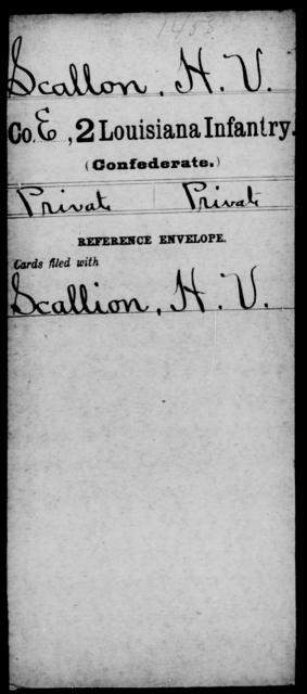 Scallon, H V - Age [Blank], Year: [Blank] - M, Ri - Sn - Louisiana