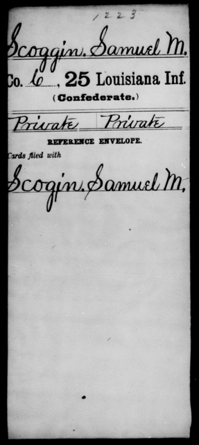 Scoggin, Samuel M - Age [Blank], Year: [Blank] - Twenty-fifth Infantry, R - Te - Louisiana