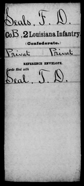 Seals, F D - Age [Blank], Year: [Blank] - M, Ri - Sn - Louisiana