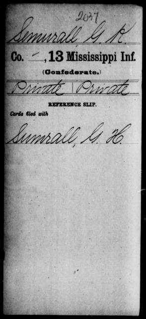 Semurall, G K - Age: [Blank], Year: [BLANK] - Mississippi C, Pe-Se