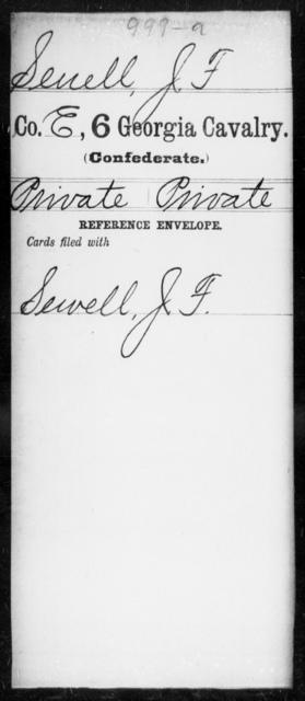 Senell, J F - 6th Cavalry AND 6th Battalion, Cavalry (State Guards)