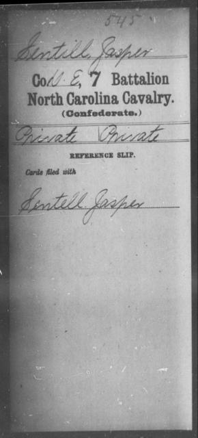 Sentill, Jasper - Seventh Battalion, Cavalry