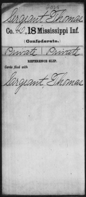 Sergeant, Thomas - Age: [Blank], Year: [BLANK] - Mississippi M, R-Sl