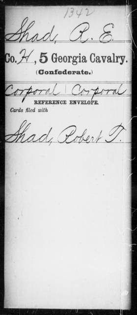 Shad, R E - 5th Cavalry