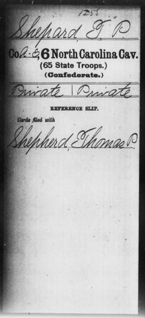 Shepard, T P - Sixth Cavalry (65th State Troops)