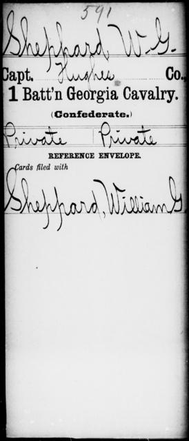 Shephard, W G - 1st Battalion, Cavalry