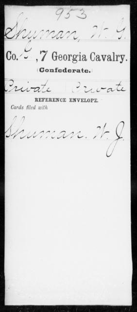 Shuman, W G - 7th Cavalry