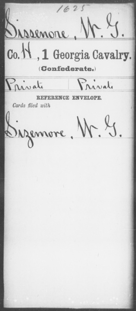 Sissenore, W G - 1st Cavalry