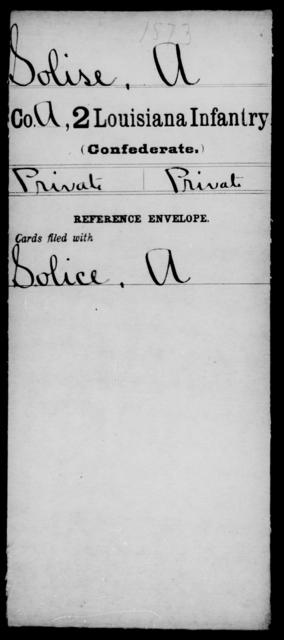 Solise, A - Age [Blank], Year: [Blank] - M, So-Wh - Louisiana