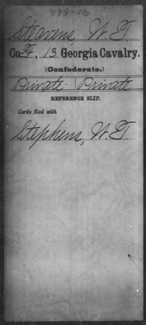 Steavens, W T - 13th Cavalry