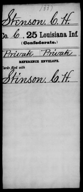 Stenson, C H - Age [Blank], Year: [Blank] - Twenty-fifth Infantry, R - Te - Louisiana