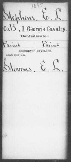 Stephens, E L - 1st Cavalry
