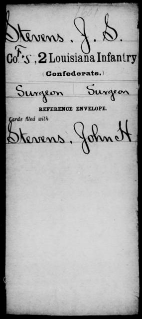 Stevens, J S - Age [Blank], Year: [Blank] - M, So-Wh - Louisiana