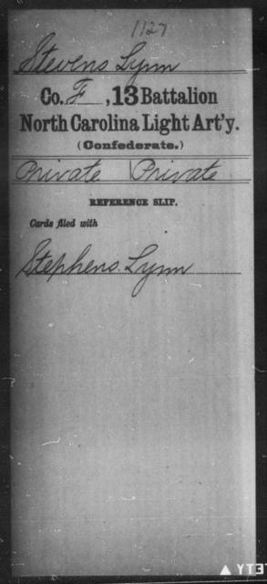 Stevens, Lynn - Thirteenth Battalion, Light Artillery