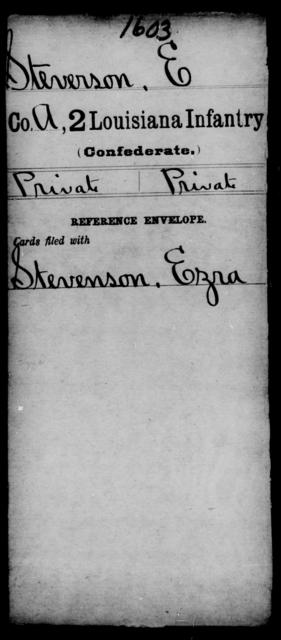 Stevenson, E - Age [Blank], Year: [Blank] - M, So-Wh - Louisiana