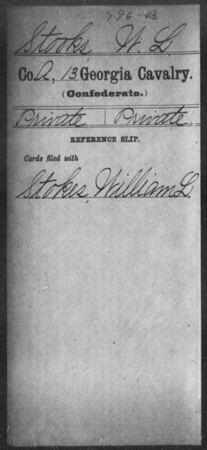 Stooks, W L - 13th Cavalry