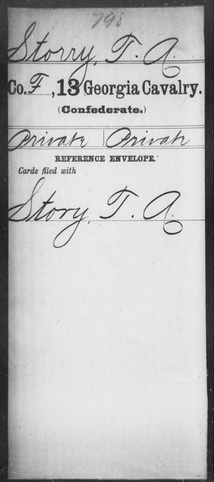 Storry, T A - 13th Cavalry