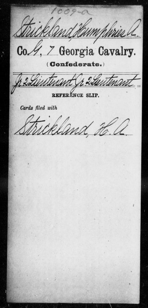 Strickland, Humphries A - 7th Cavalry