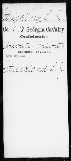 Strickling, L J - 7th Cavalry