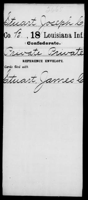 Stuart, Joseph C - Age [Blank], Year: [Blank] - Eighteenth Infantry, Si - Z - Louisiana