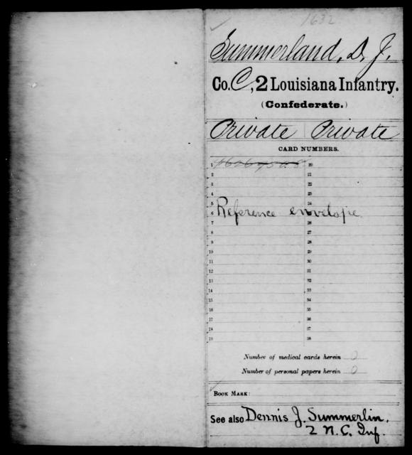 Summerland, D J - Age [Blank], Year: [Blank] - M, So-Wh - Louisiana