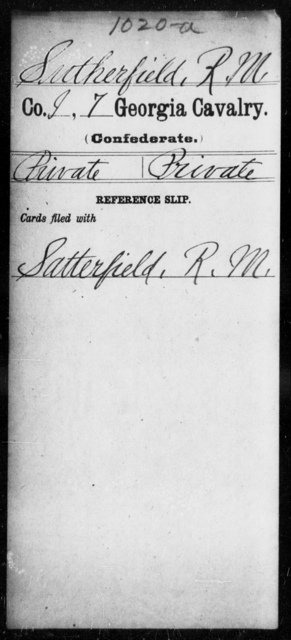 Sutherfield, R M - 7th Cavalry