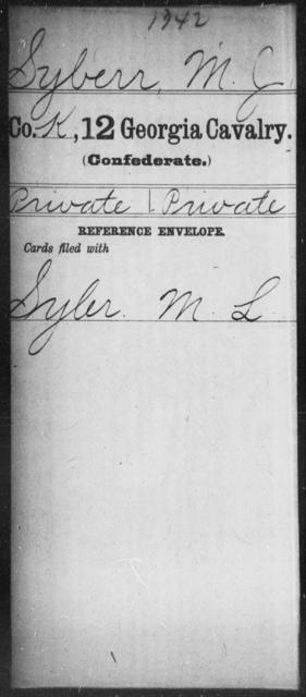 Syberr, M J - 12th Cavalry