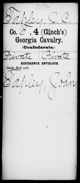 Tapley, J C - 4th (Clinch's) Cavalry