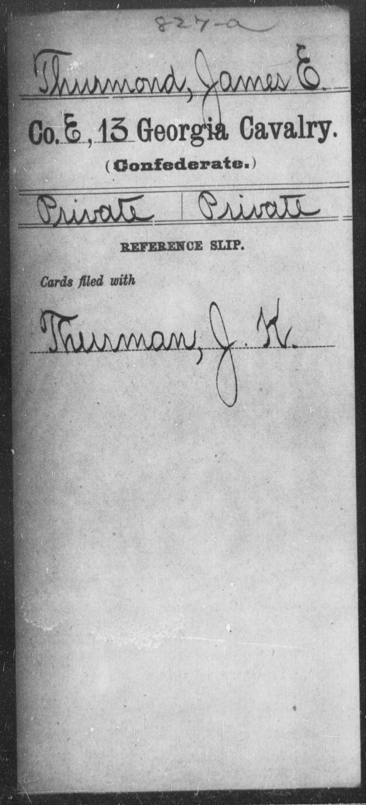 Thurmond, James E - 13th Cavalry